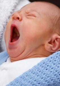 baby yawning, midwives